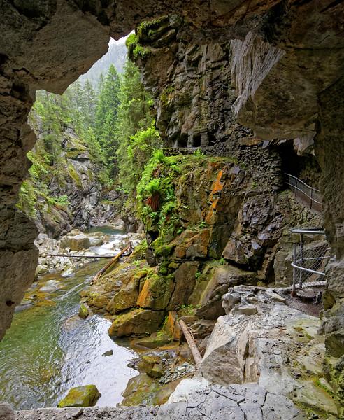 Rofflafallschlucht, Graubünden, Switzerland
