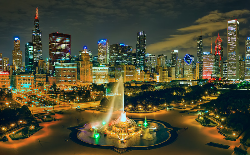 Buckingham Fountain, Chicago, Illinois (September 2018)