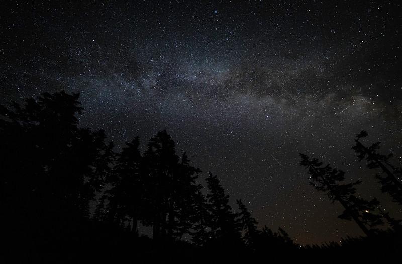 Milky Way over Alpine Lakes Wilderness, Washington (September 2018)