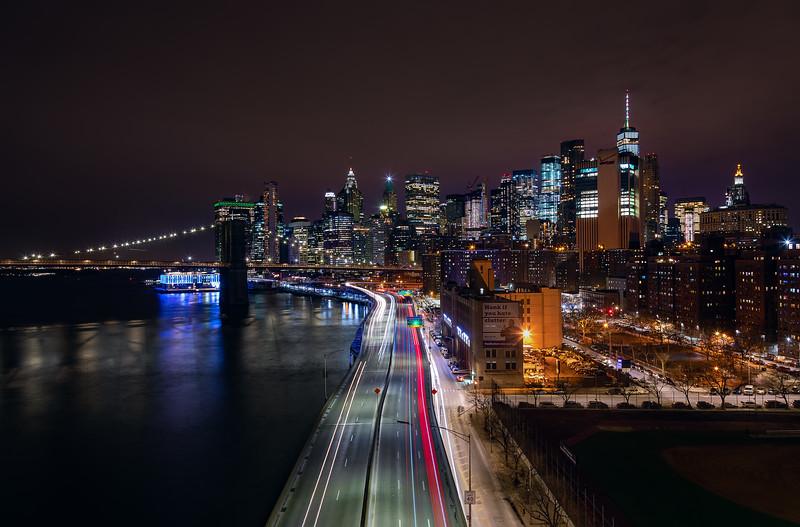 Over the FDR, New York (February 2019)