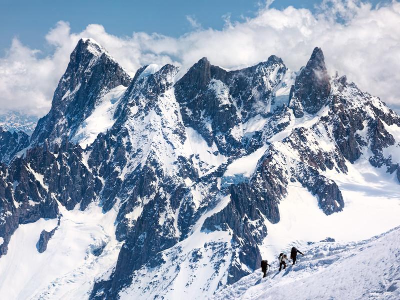 From Mont Blanc, Chamonix, France (June 2019)