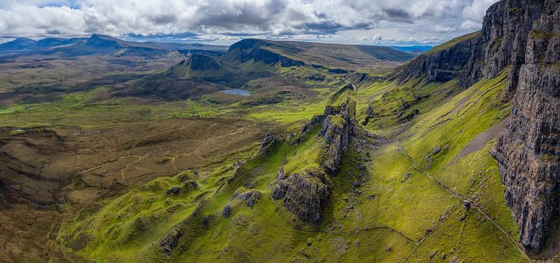 Quiraing via drone, Isle of Skye, Scotland (May 2019)