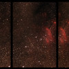 IC4628 Gum 56 Prawn Nebula in Scorpio between NGC6242 and NGC6231 Open Clusters - 25/2/2017 (Unmerged 3 panel Mosaic)
