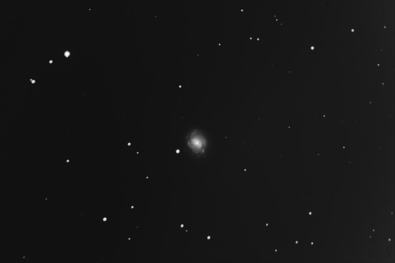 Messier M77 - NGC1068 - Barred Spiral Galaxy in Cetus - 18/1/2019 (Processed stack)