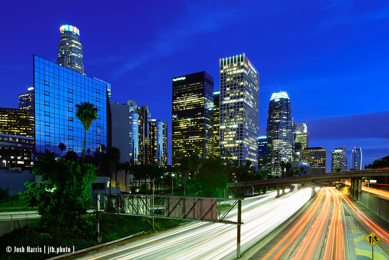 View from 3rd Street Overpass, Los Angeles, June 2015.