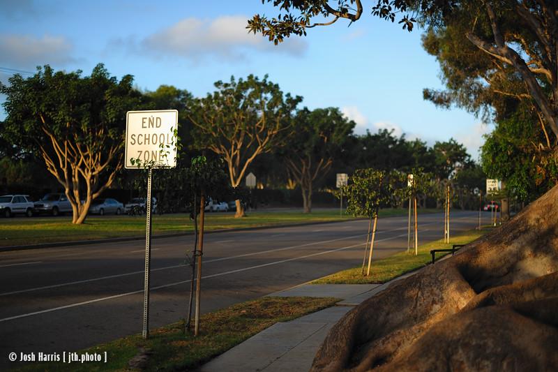 San Vicente Boulevard near Gretna Green Way, Los Angeles, October 2009.