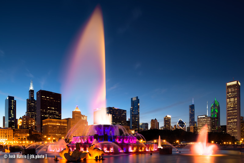 Buckingham Fountain, Grant Park, Chicago 2016.