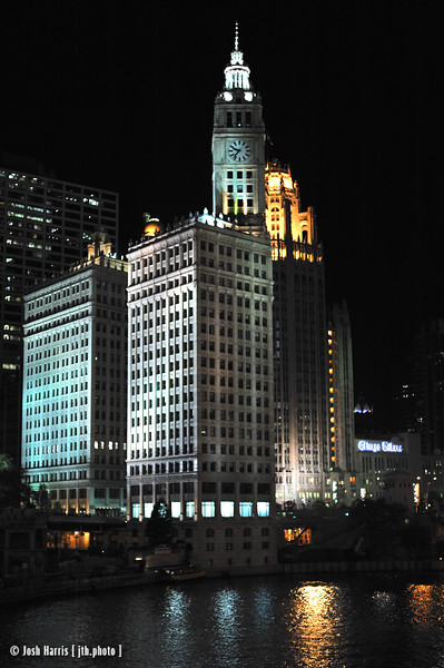 View from Wabash Avenue Bridge, Chicago, August 2008.