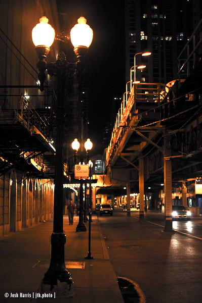 Lake Street at Wabash Avenue, Chicago, August 2008.
