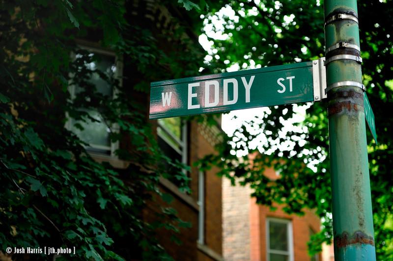 W. Eddy Street at N. Wolcott Avenue, Chicago, September 2009.