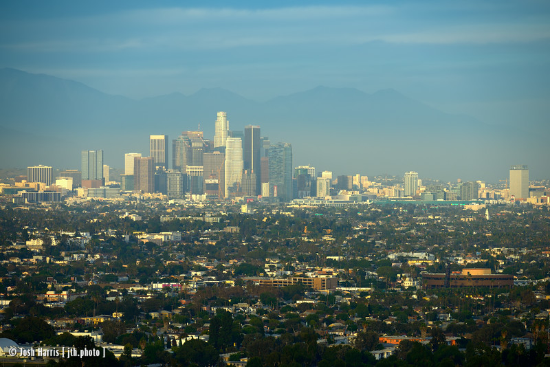 View of Downtown Los Angeles from Kenneth Hahn State Recreation Area, September 2015.