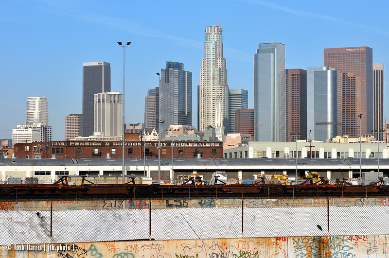 View west from Myers Street, Los Angeles, February 2008.