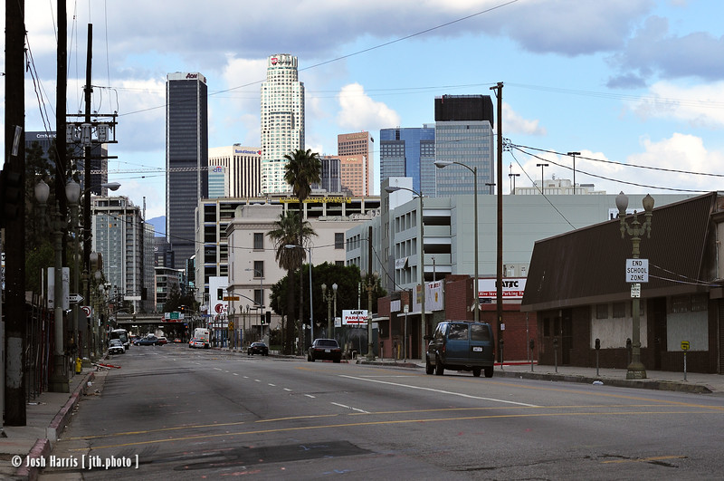 Grand Avenue at 23rd Street, Los Angeles, March 2008.