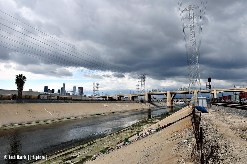 View of 6th Street Bridge, Los Angeles, May 2008.