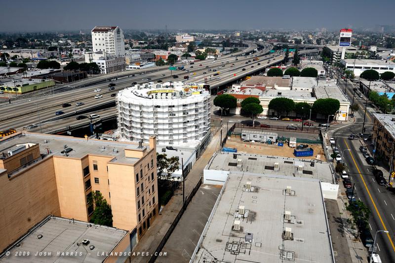 Venice Boulevard at Grand Avenue, Los Angeles, May 2009.