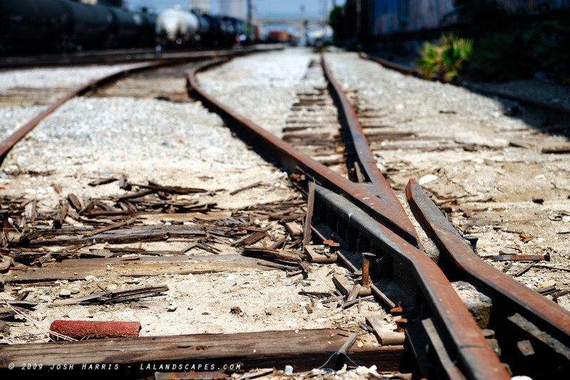 Tracks off Mission Road, Los Angeles, May 2009.