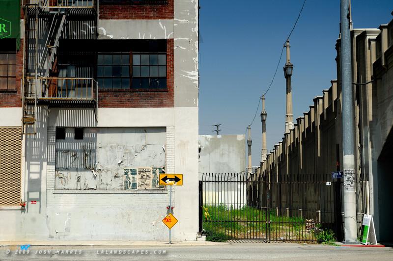 Santa Fe Street at 4th Street Bridge, Los Angeles, May 2009.