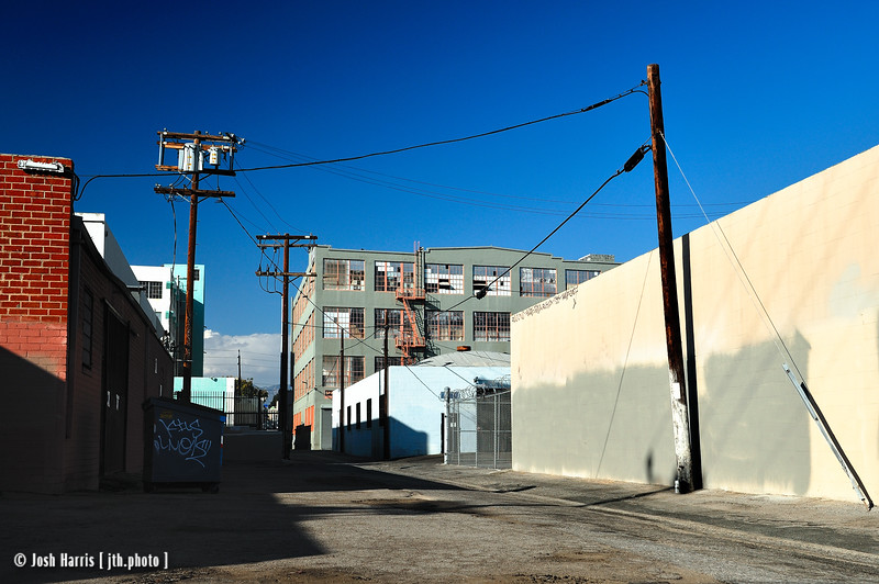 Alley off 14th Street, Los Angeles, August 2008.