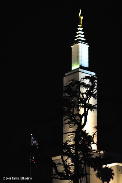 Mormon Temple, Santa Monica Boulevard at Manning Avenue, Los Angeles, September 2008.