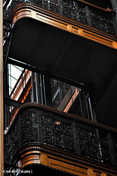 Bradbury Building, Broadway at 3rd Street, Los Angeles, September 2008.
