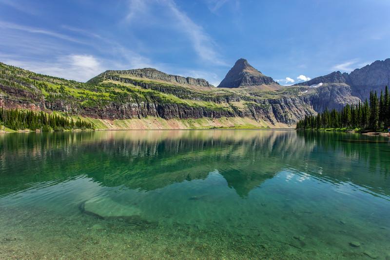Hidden Lake shoreline