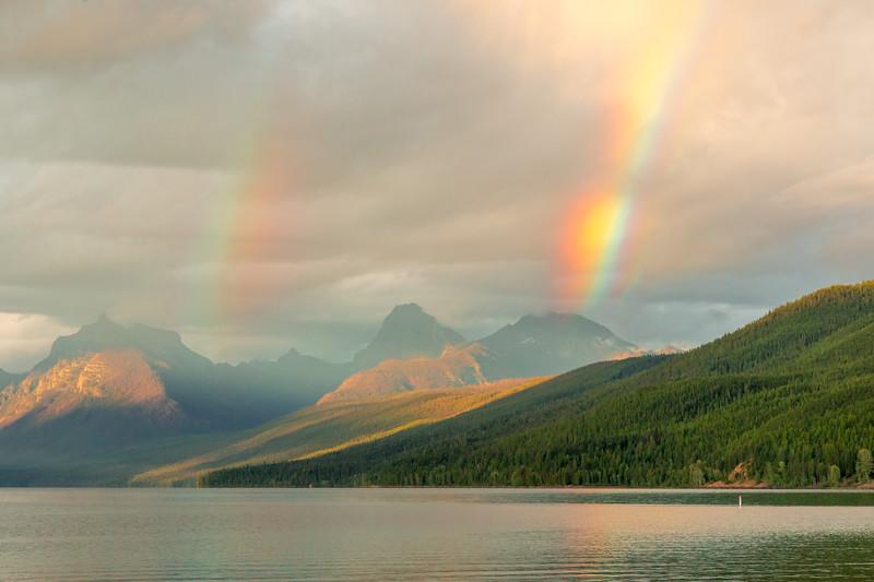 Double rainbow out beyond Lake McDonald