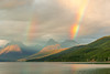 Double rainbow out beyond Lake McDonald