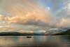 Evening storm clouds brewing up over Lake McDonald