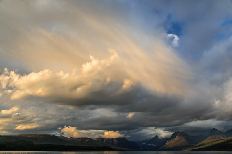 Evening storm clouds brewing over Lake McDonald