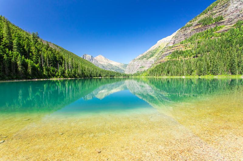 Avalanche Lake southern shoreline