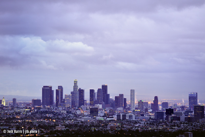 View from Grand View Drive, Hollywood Hills, March 2012.