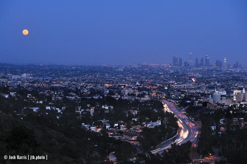View from Mulholland Drive, Hollywood Hills, May 2012.