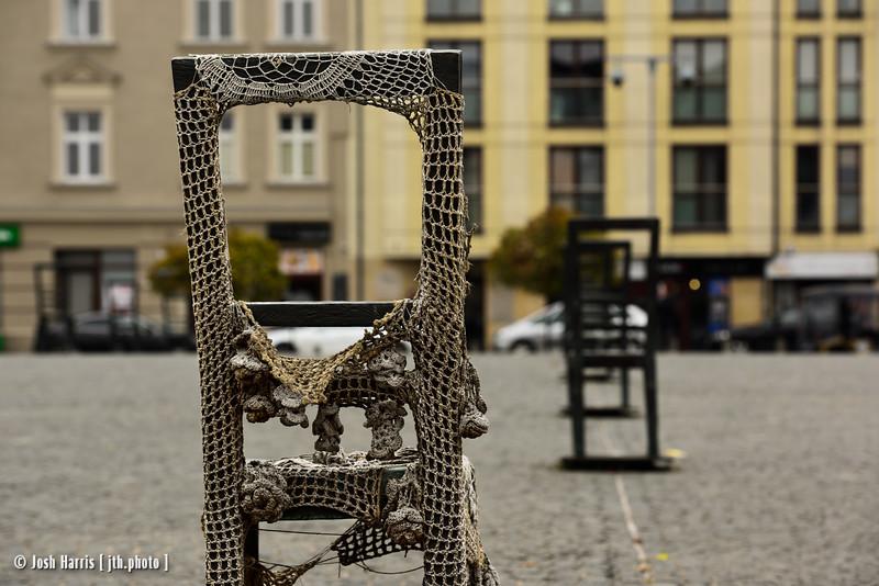 Ghetto Heroes Square, Krakow, Poland, October 2018.