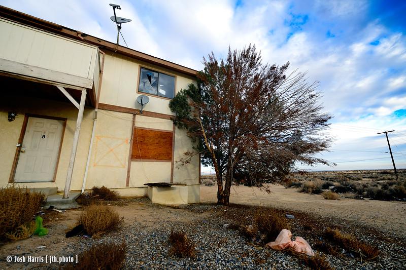 Randsburg Mojave Road at Hooker Drive, California City, California, January 2015.