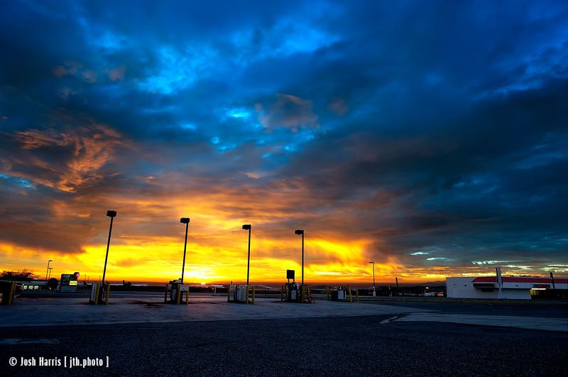 Highway 14 at Highway 58, Mojave, California, January 2015.
