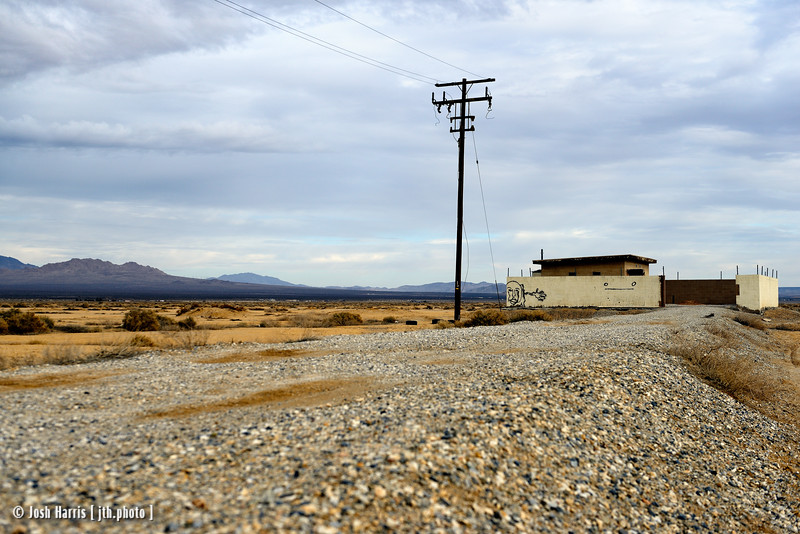 Highway 247, Lucerne Valley, California, January 2015.