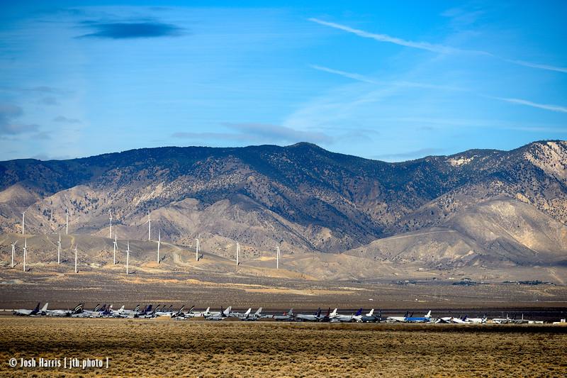 Highway 172 at Highway 58, Mojave, California, January 2015