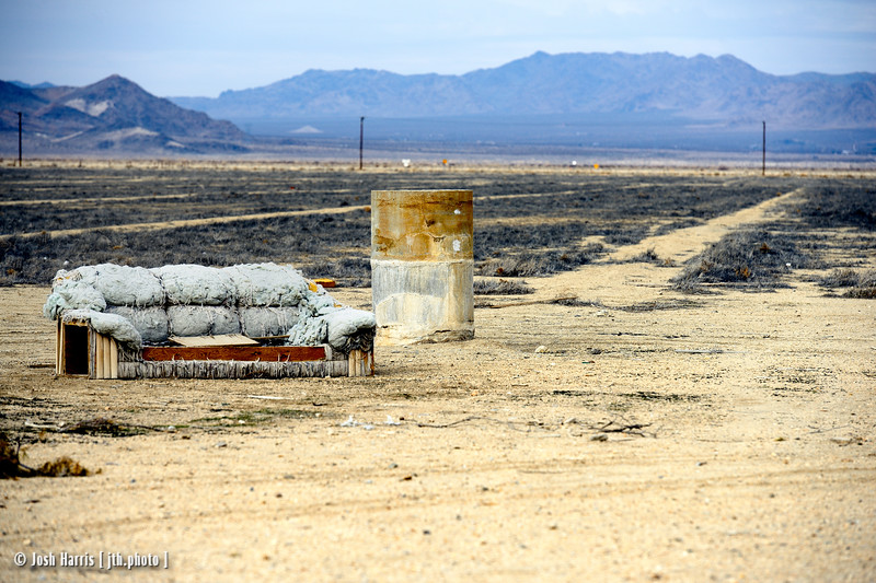 Highway 247 at Gobar Road, Lucerne Valley, California, January 2015.