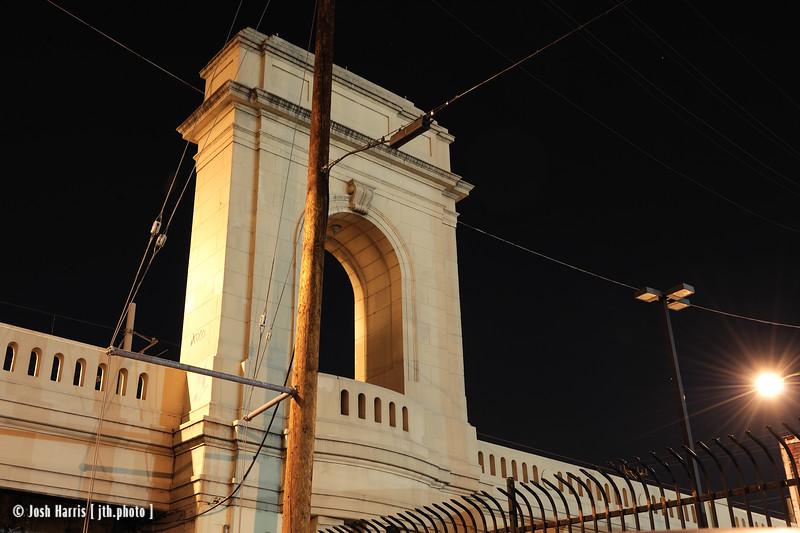 Myers Street at the 1st Street Bridge, Los Angeles, December 2008.
