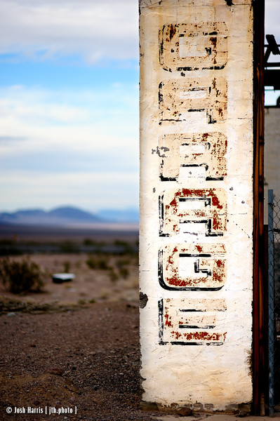 Ludlow, California, Mojave Desert, November 2013.