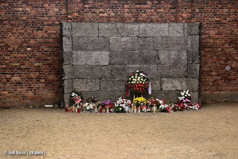 """""""Death Wall,"""" Auschwitz,  Poland, October 2018."""