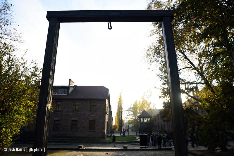 Gallows for Rudolf Höss, Auschwitz, October 2018.