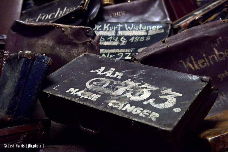 Luggage Confiscated from Prisoners, Auschwitz, Poland, October 2018.