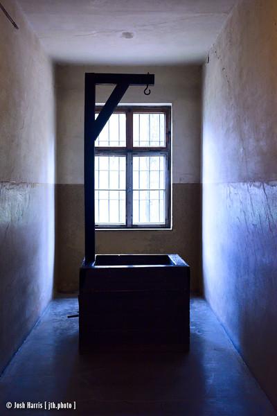 Gallows for Prisoners, Block 11, Auschwitz,  Poland, October 2018.