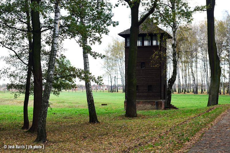 West Side of Camp, Auschwitz II-Birkenau, Poland, October 2018.