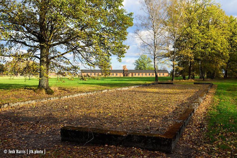 Barracks for Prisoner Undressing Prior to Being Shot at the Burning Pit, Main Camp Bathhouse, Auschwitz II-Birkenau, Poland, October 2018.