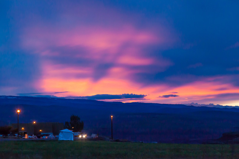 Sunset the night before the start of the Sasquatch Music Festival-The Gorge Amphitheater, Wa