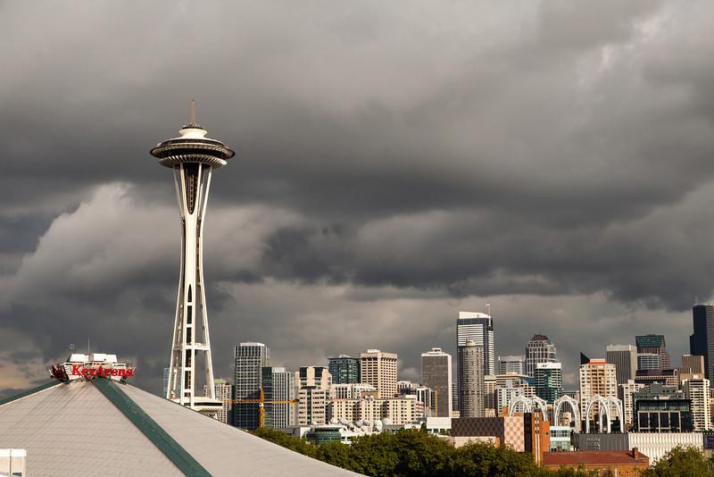 Seattle Space Needle and Key Arena-Seattle, Wa