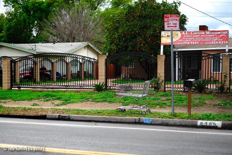 Wilbur Avenue at Community Street, Northridge, March 2010.