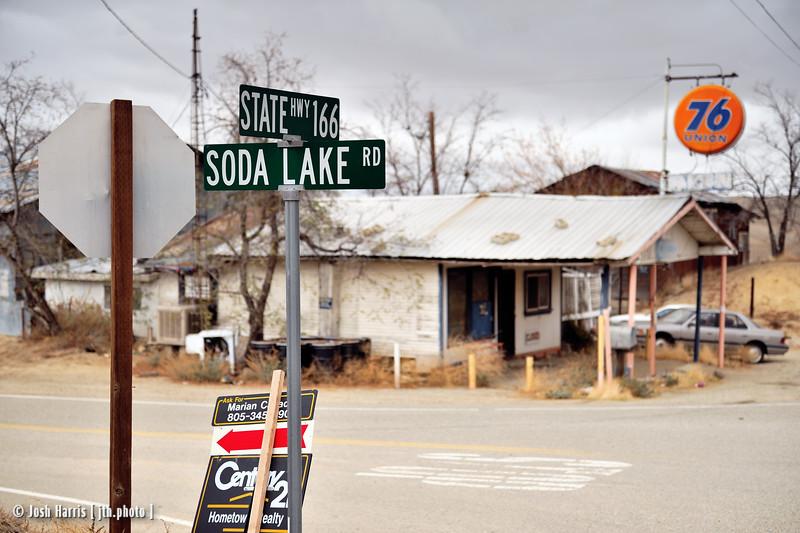 Highway 33/166 at Soda Lake Road, Kern County, November 2008.